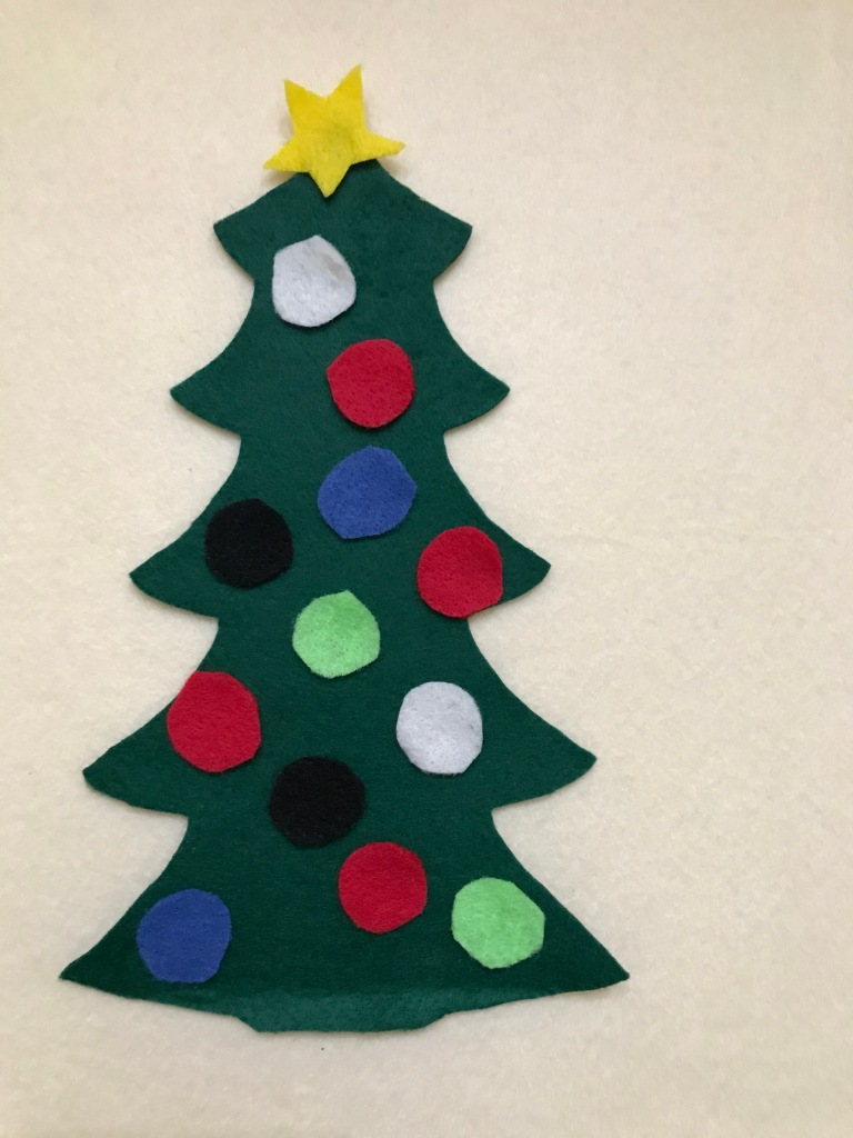 Felt Christmas tree set